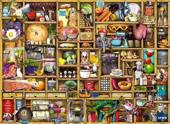 Kitchen Cupboard by Colin Thompson #art #gelaskins