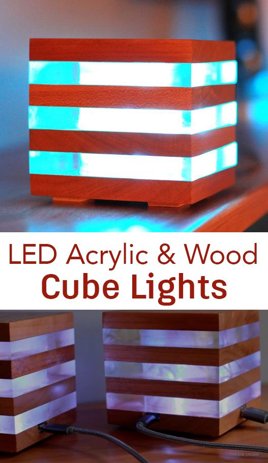 Lamp made of acrylic with RGB led lights