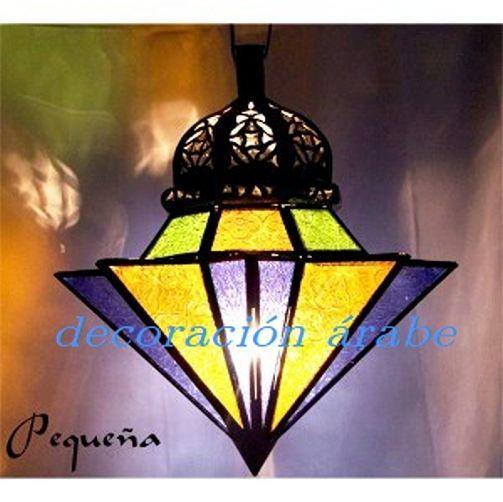 Lampara De Cristales De Colores. Interesting Jardn De Estilo ...