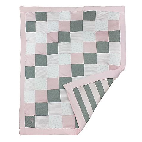 Burt 39 S Bees Baby Reg Tiles Bee 100 Organic Cotton Quilt In Blossom Pink Quilts Baby Quilts Cotton Quilts