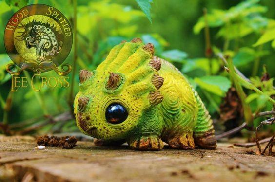 Woodsplitterlee Handmade Sculpted Baby Triceratops | eBay