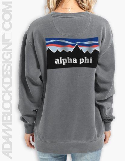 Alpha Epsilon Phi - Patagonia Crew Neck Sweatshirt (True Navy ...