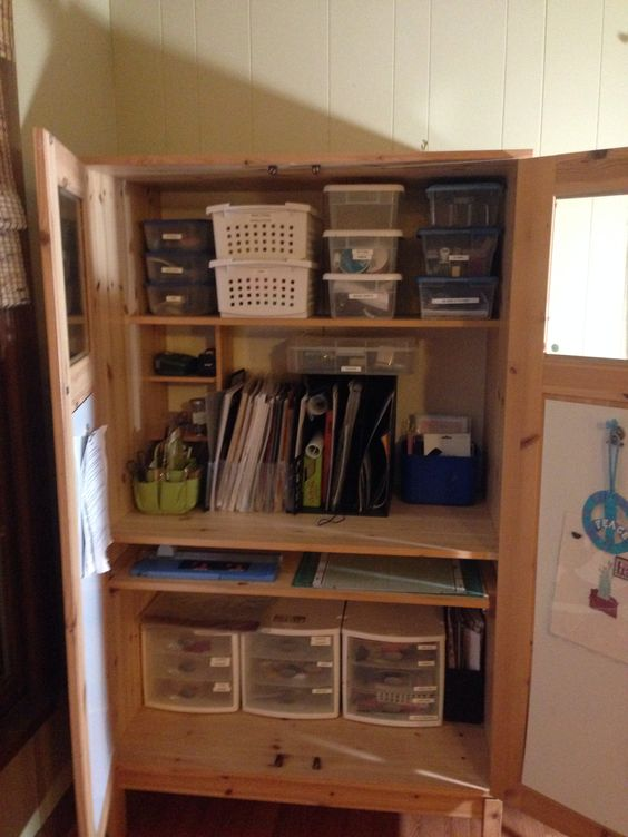 craft cabinet from ikea computer cabinet scrapbooking