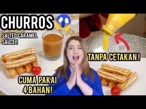 Cooking With Tasyi Ep 22 Resep Churros Terenak Tanpa Cetakan Hanya 4 Bahan Youtube Churros Resep Camilan