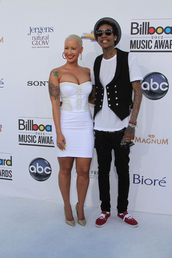 Amber Rose Wiz Khalifa Photos - Amber Rose and Wiz Khalifa on the red carpet at the Billboard Music Awards 2012 in Las Vegas. - Celebs at the Billboard Music Awards