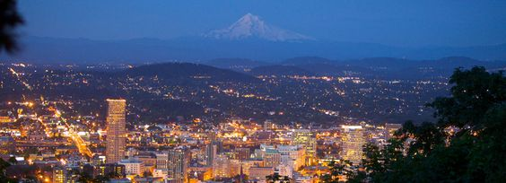 Portland, Oregón al atardecer