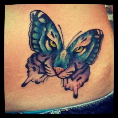 butterfly with tiger face tattoo ink me pinterest tiger face tattoo tigers and butterflies. Black Bedroom Furniture Sets. Home Design Ideas