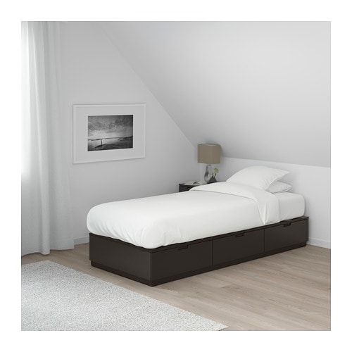 Nordli Bed Frame With Storage Anthracite 90x200 Cm Bed Frame With Storage Bed Frame Bed