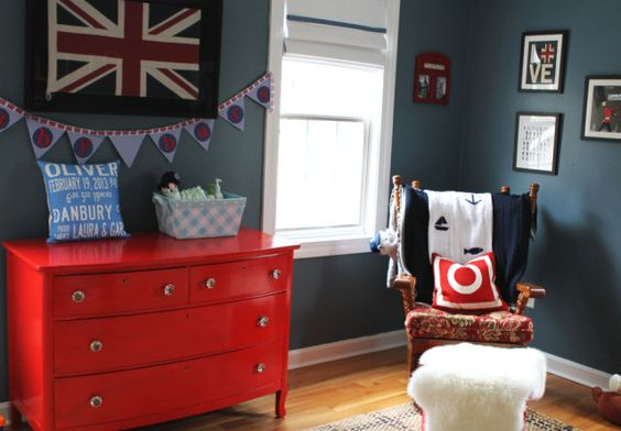 Red and Blue British-Themed Nursery - Project Nursery