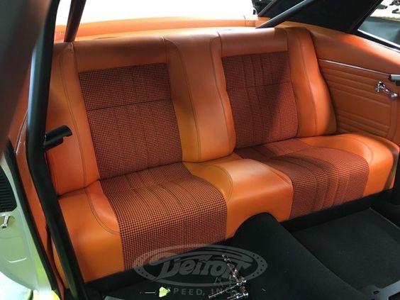 69 camaro silver red orange and black houndstooth interior robert taylor detroit speed auto. Black Bedroom Furniture Sets. Home Design Ideas