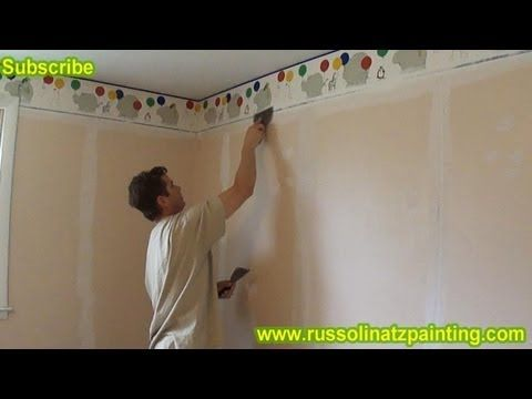 DIY Paint over Vinyl Wallpaper \u0026 Border Part 2 In this video, I use the Ridgid Air Mover to
