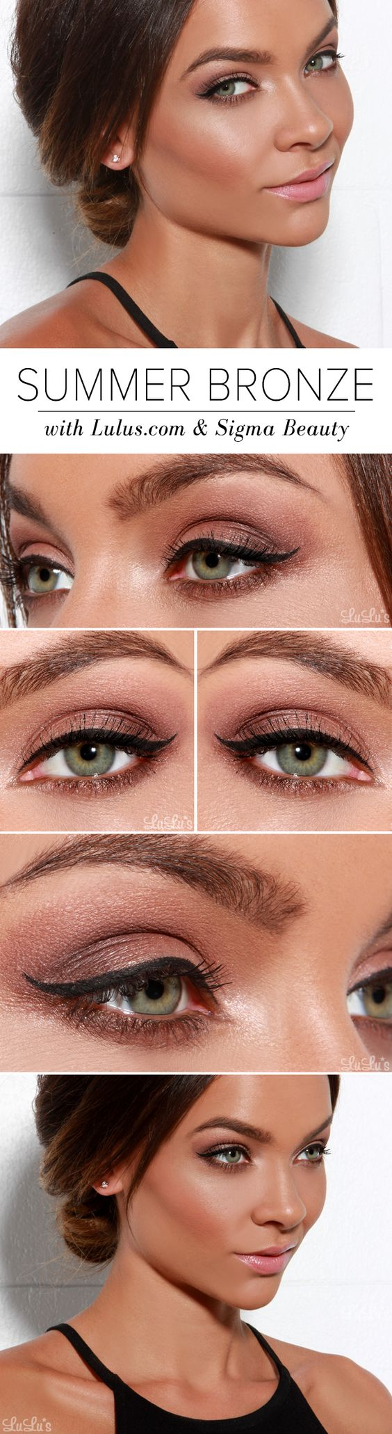 Summer bronze make up tutorial