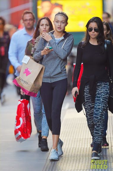 db2364151b2f ... france nike flyknit racer purple orange celebrity bargain buys gigi  hadid in nike flyknit lunar sneakers