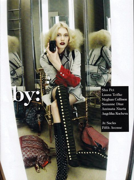 Boot Fashion: Luana Teifke in Christian Louboutin Over The Knee Boots. Vogue Italia, 07.2010.
