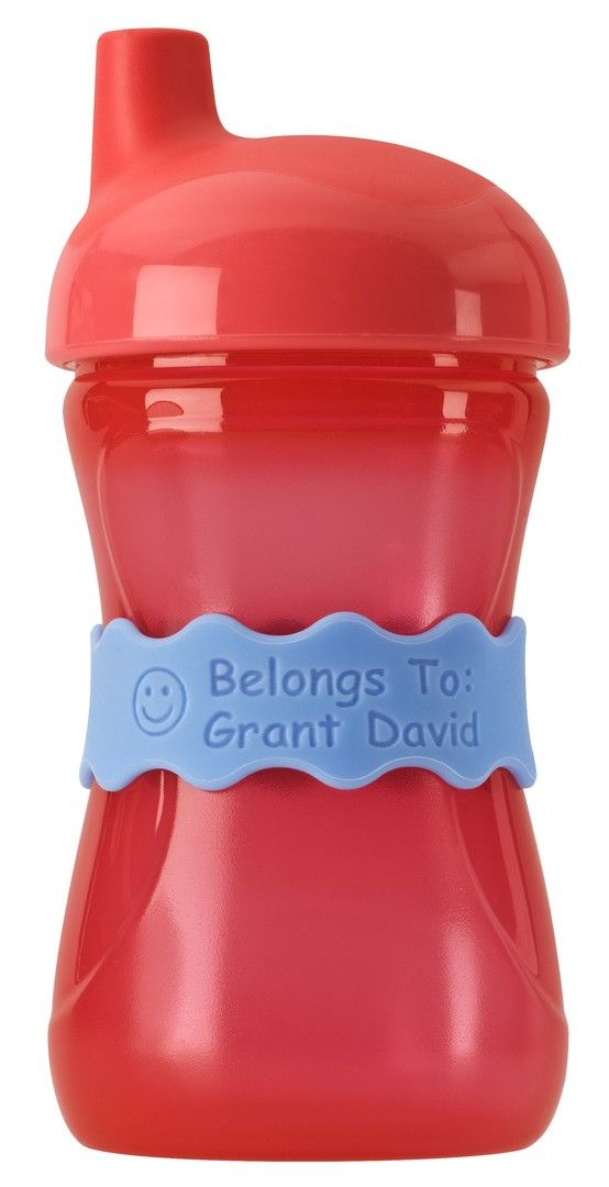 Orbit Labels work on baby bottles, sippy cups, sports bottle & more...these labels grow with your family. Reusable,microwaveable & dishwasher safe. Available in 8 fun colors...something for each personality in the house.