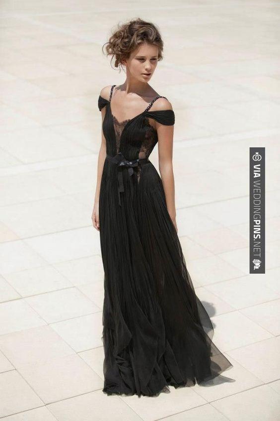 Sweet - Daring Black Bridesmaid Dress with Peekaboo Lace  
