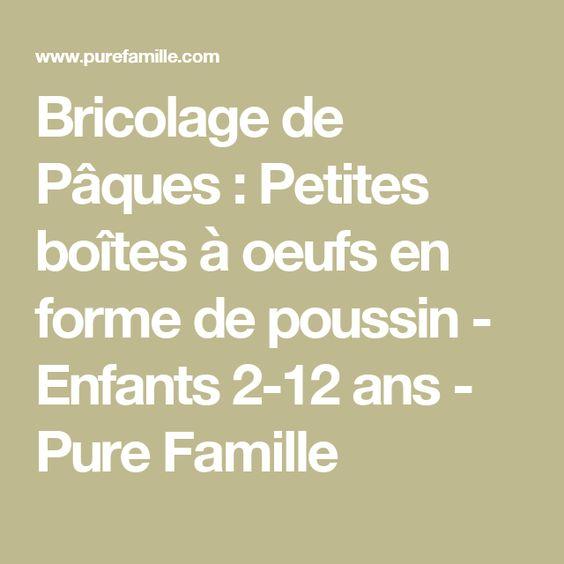 Bricolage de Pâques : Petites boîtes à oeufs en forme de poussin - Enfants 2-12 ans - Pure Famille