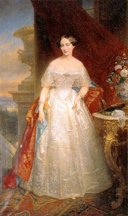 1848 Nicaise de Keyser - Portrait of Olga of Russia, Princess of Württemberg
