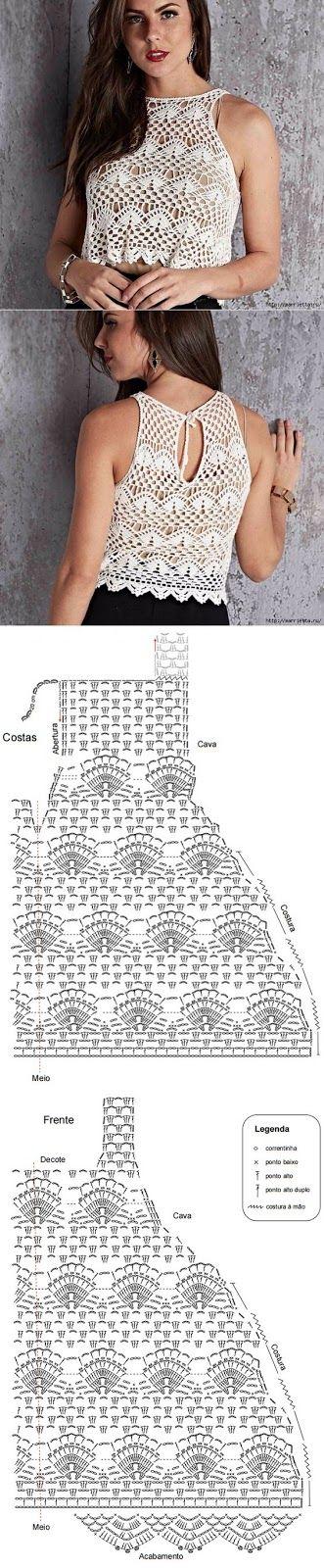 11 mejores imágenes sobre Crochet to wear en Pinterest | Patrón ...