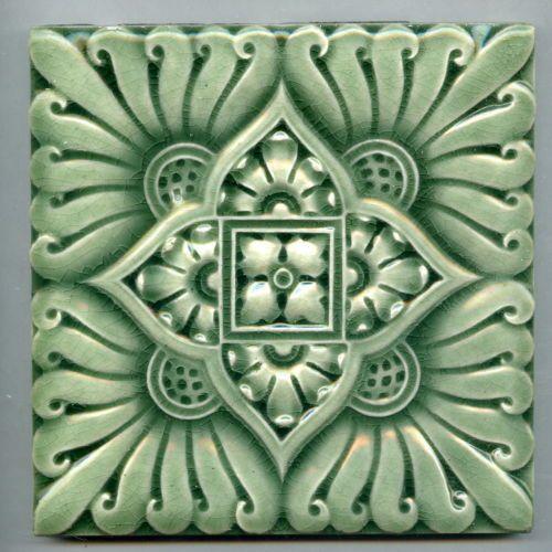 Antique Arantique Victorian Ceramic Tile By Craven Dunnill C1900t Nouveau Majolica Ceramic Tile Art Nouveau Tiles Victorian Tiles Antique Ceramics