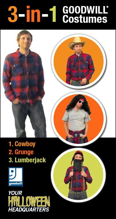 Flannel + jeans = 3 easy DIY costumes | Goodwill Easter Seals ...