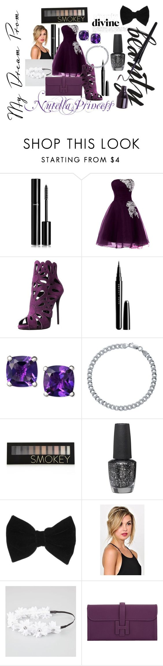 """""""My Dream Prom"""" by queenskittles-aka-the-hobo on Polyvore featuring Chanel, Giuseppe Zanotti, Marc Jacobs, BERRICLE, Forever 21, OPI, claire's, Full Tilt and Hermès"""