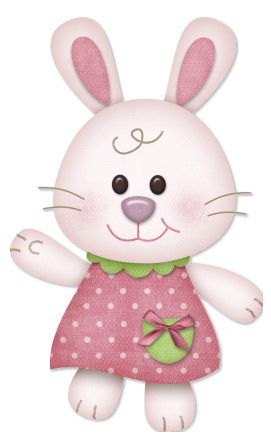 Easter girl bunny clip art dibujos bebe pinterest for Andy panda jardin de infantes