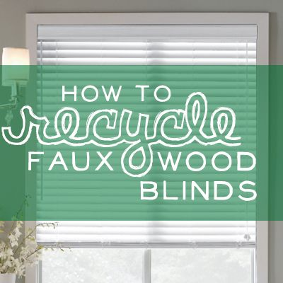 Faux Wood Blind Slats Repurpose