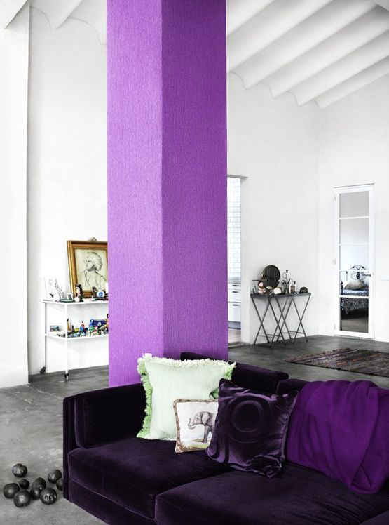 one vibrant column