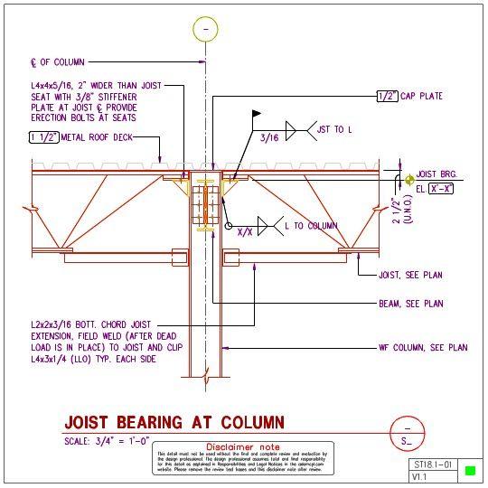 Joist Connection Details 1 Metal Roof Roof Deck Steel Structure