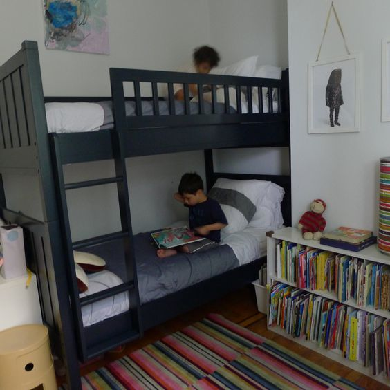 Brother and Sister bunk beds jmorrisdesign jmorriskids