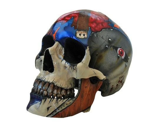 Airbrushed skull by Rich Cimino