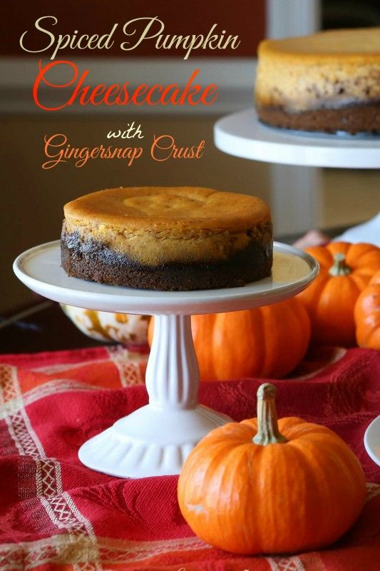 Spiced Pumpkin-Cheesecake with Gingersnap Crust