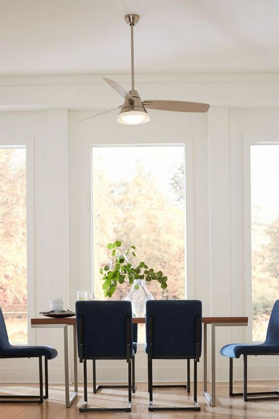 Yay Or Nay Ceiling Fan Over The Dining Table At Home In Love Lights Over Dining Table Dining Room Ceiling Fan Dining Room Design