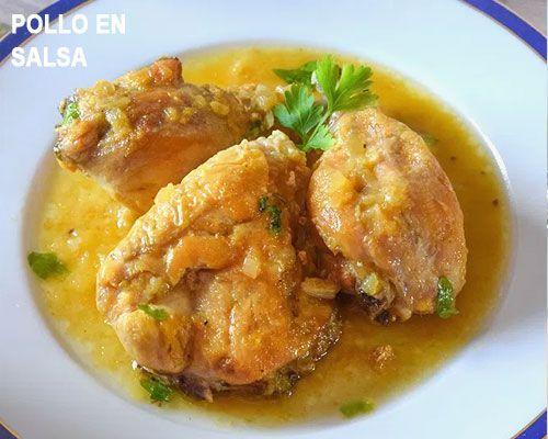 Pollo En Salsa Al Vino Blanco Pollo En Salsa Como Cocinar Pollo Pollo Relleno De Jamón Y Queso