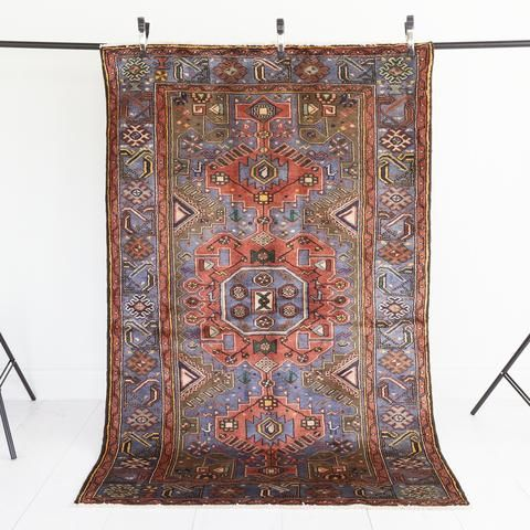 Chadi Salmon And Blue Vintage Rug From Tonic Living Rugs Vintage Rugs Vintage