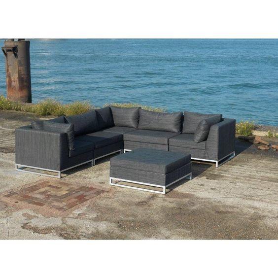 Lounge set Block wit Tuinmeubel Collectie LIFE Outdoor Living - garten lounge gunstig