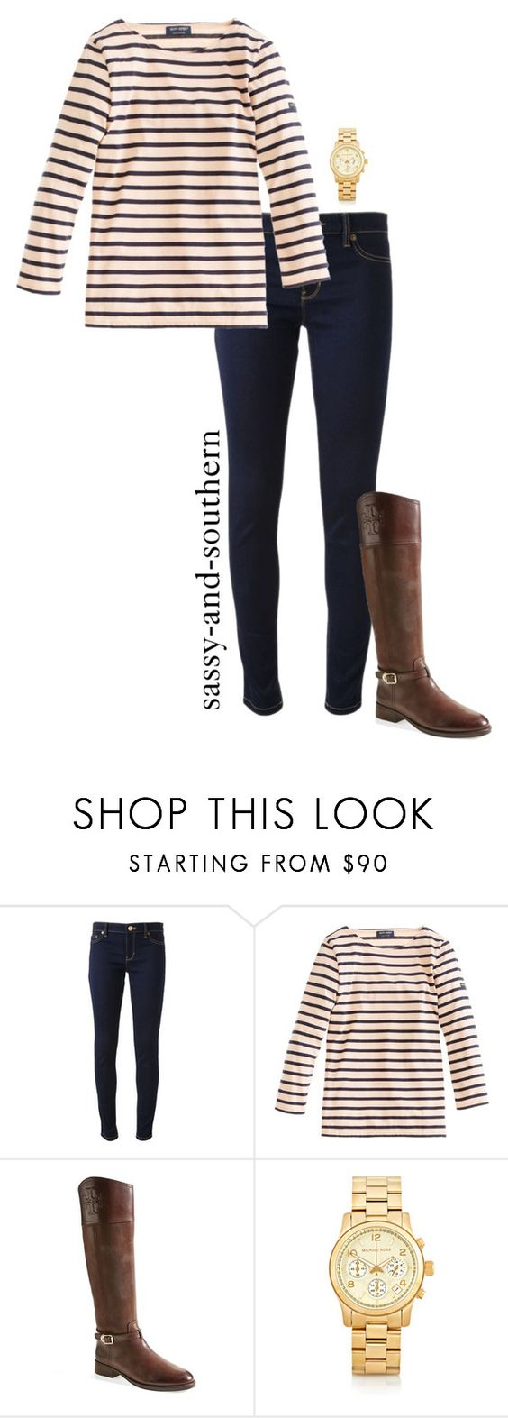 """""""fall outfit"""" by lilypackard ❤ liked on Polyvore featuring Michael Kors, J.Crew, Tory Burch, women's clothing, women, female, woman, misses, juniors and ToryBurch"""