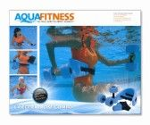 Aqua Fitness Exercise Set – 6 Piece Water Exercise Aerobic Belt, Barbells and Workout Routine