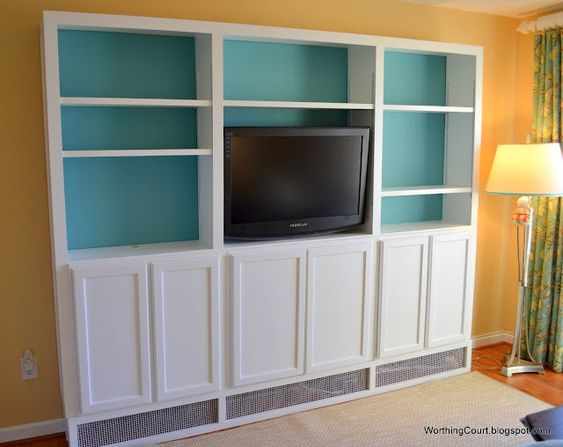 "simple, affordable way to build bookcases above a baseboard heater and still allow the heat to come thru - add this to the ""SOMEDAY"" list!  Love it - would be perfect in the main living room."