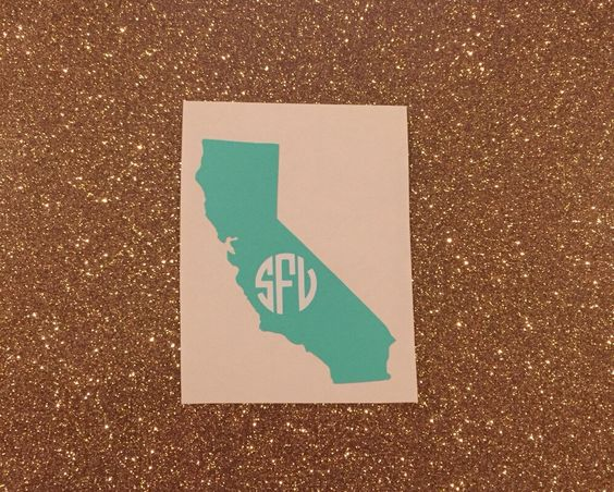 A personal favorite from my Etsy shop https://www.etsy.com/listing/269239414/monogram-state-decal