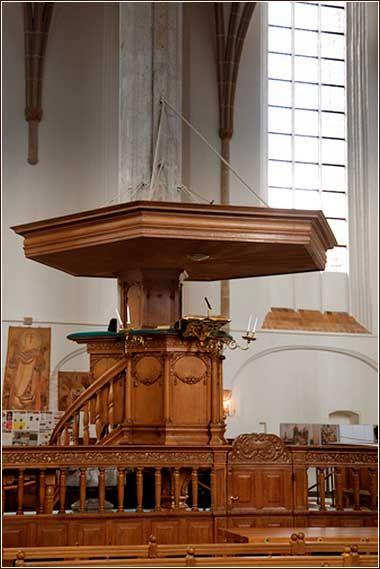Pulpit of Sint Joris Church, Amersfoort.