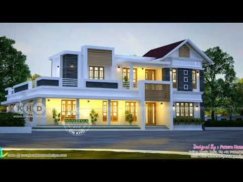 New House Design 2019 Kerala Traditional And Contemporary Latest Home 2019 Youtube In 2020 Kerala House Design Traditional House Plans Unique House Design