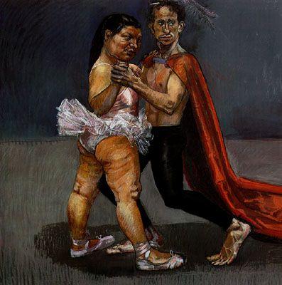 Paula Rego: Dancing couple from Wlat Disney's Fantasia, 1994.