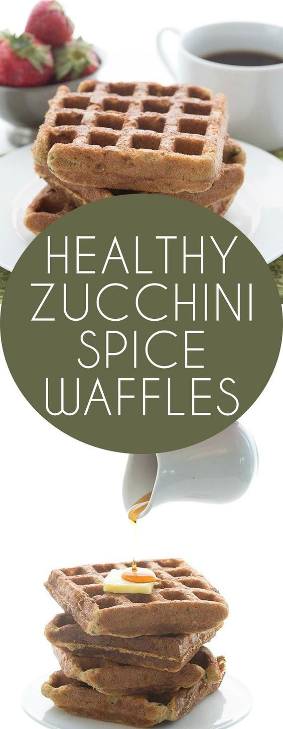 These low carb, dairy-free zucchini spice waffles will quickly become ...