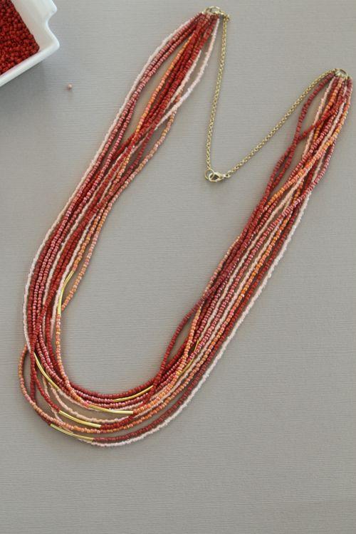 seed bead necklace: Beads Tutorial, Diy Seedbead,  Nematode Worm, Diy Gift, Seedbead Necklace, Bead Necklace Diy, Seed Bead Tutorial, Seed Bead Necklaces