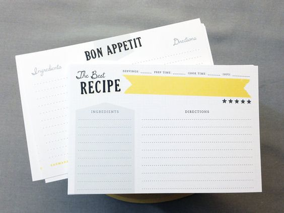 The Best Recipe Double-Sided Recipe Cards Set of 12 by Earmark