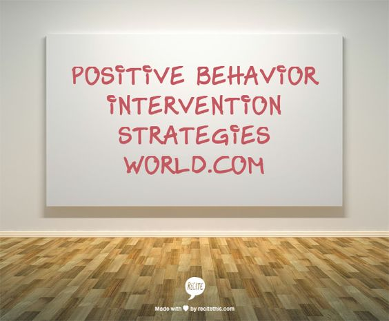 * An entire website full of Positive Behavior Intervention Strategies - Choose a problem behavior - Assess whether that seems to be a good description of the student's actions, then view possible interventions from least at Level 1, 2 or 3.