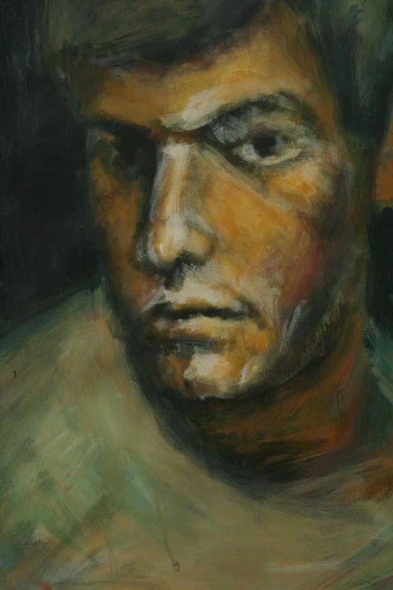 portrait, acryl