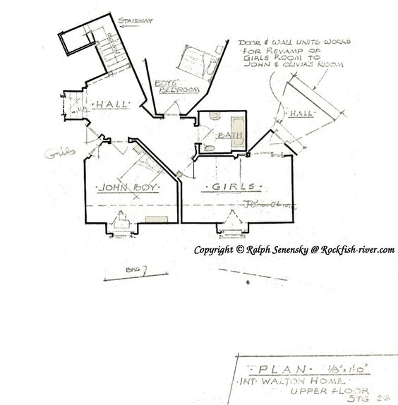 Waltons 39 house floor plan 2nd story tv pinterest for Walton house floor plan